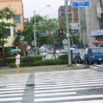 釜山の歩行者信号は変わるのが早い