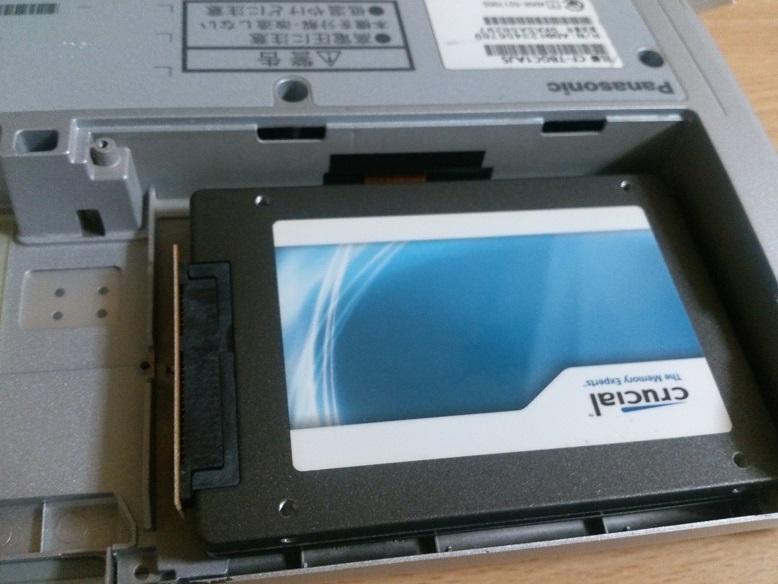 レッツノート(CF-T8)のHDDをSSDに交換