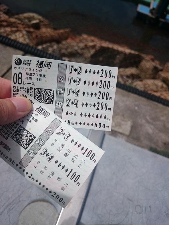 福岡競艇舟券8レース