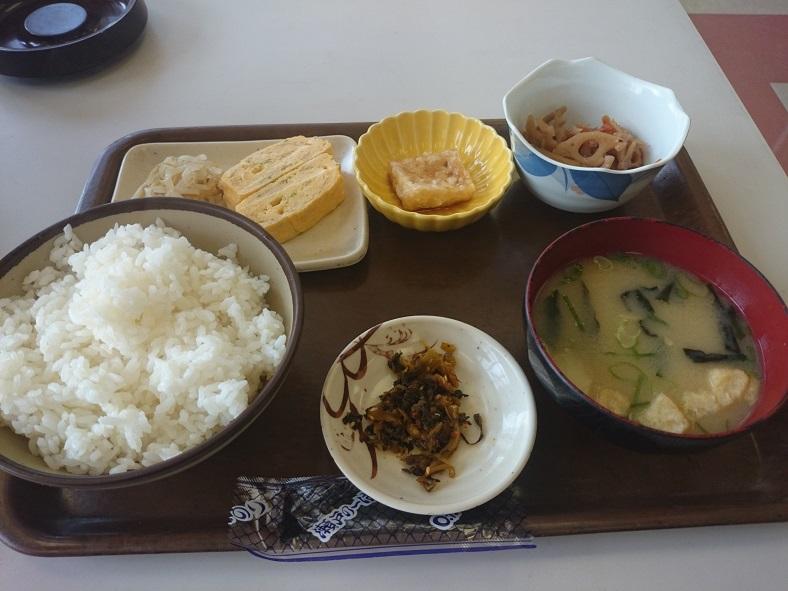 福岡競艇場の二階レストランの和定食