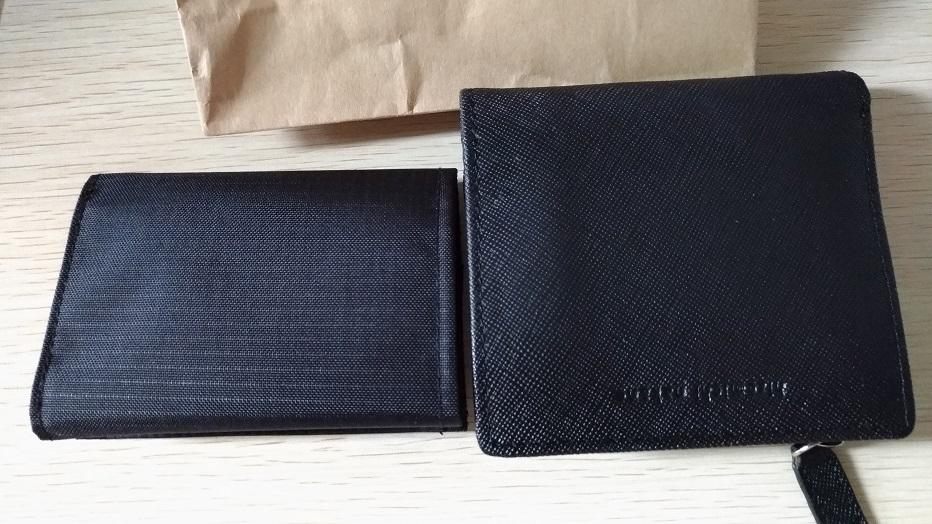 「トレールワレット」と二つ折り財布の比較