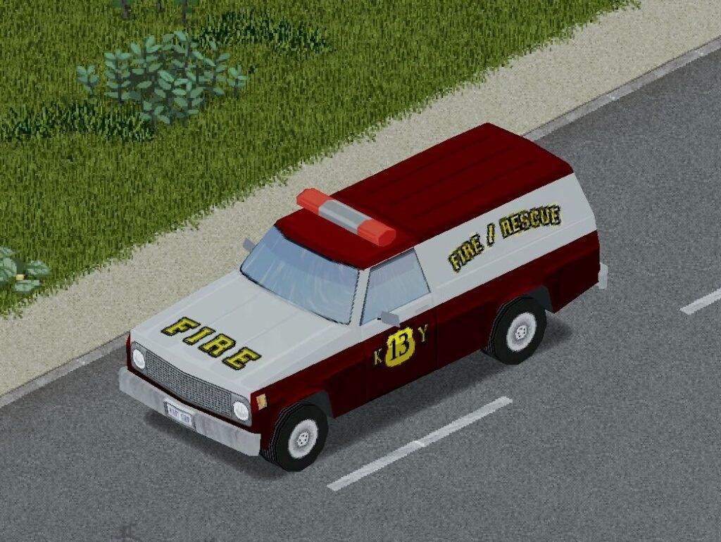 プロジェクトゾンボイドの消防車(プルドライバー)